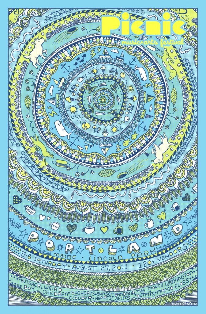 Picnic 2011 poster by Kris Johnsen