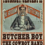 HillyTown Presents: Goddamn Rattlesnake with Butcher Boy and the Cowboy Band at Union Hall - 1-12-12