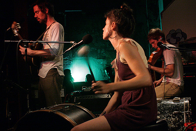 Bowerbirds at SPACE Gallery - photo by Bryan Bruchman